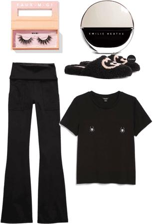 Black Halloween pajamas