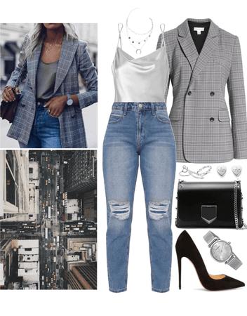 city blazer outfit