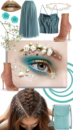 turquoise floral eye