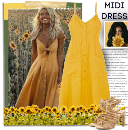 Yellow Midi Dress.