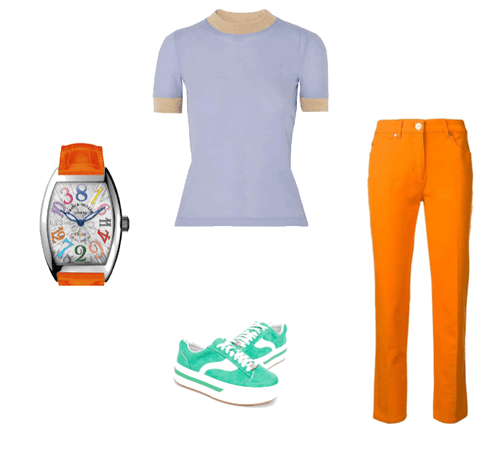 Split-Complementary Outfit