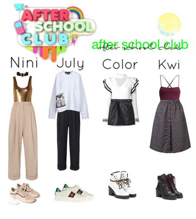 """After School Club"" outfits