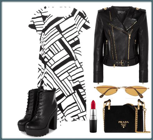 ZARA BLACK & WHITE DRESS