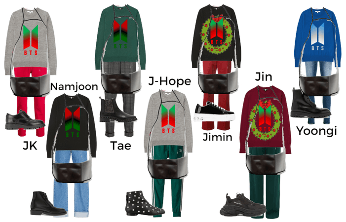 BTS Gingerbread Bakeoff Outfits