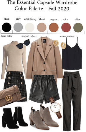 The Essential Capsule Wardrobe Color Palette Fall 2020