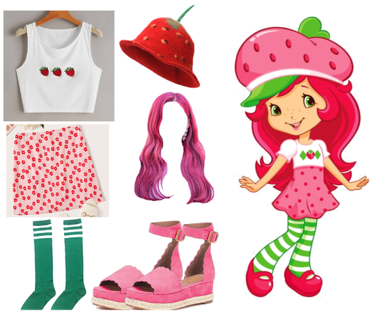 Strawberry Shortcake Character Outfit 🍓