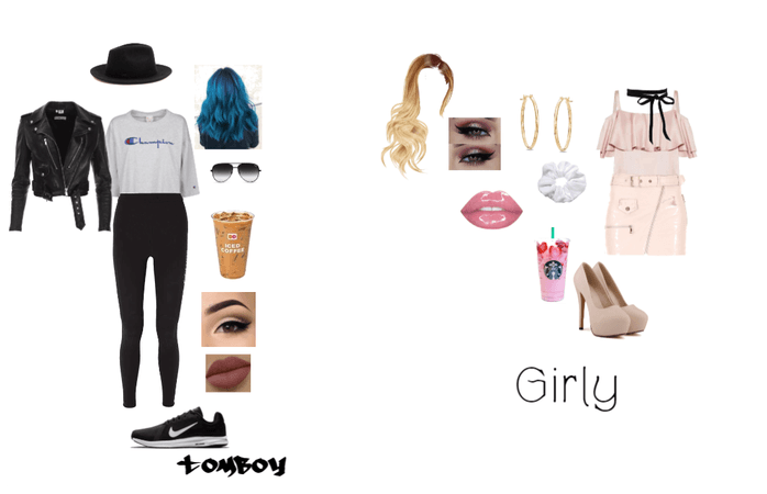tomboy and girly