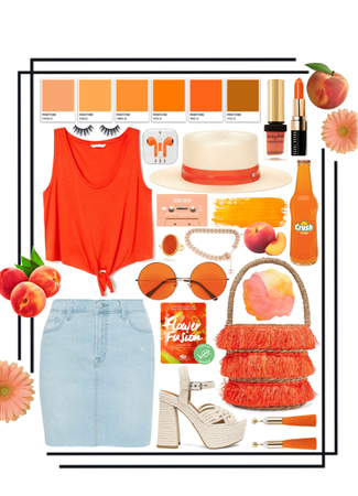 peachy orange