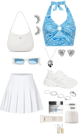 Blue and White Fit