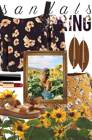 Sunflowers and Sandals in the Spring