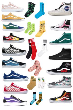 fav socks and shoes