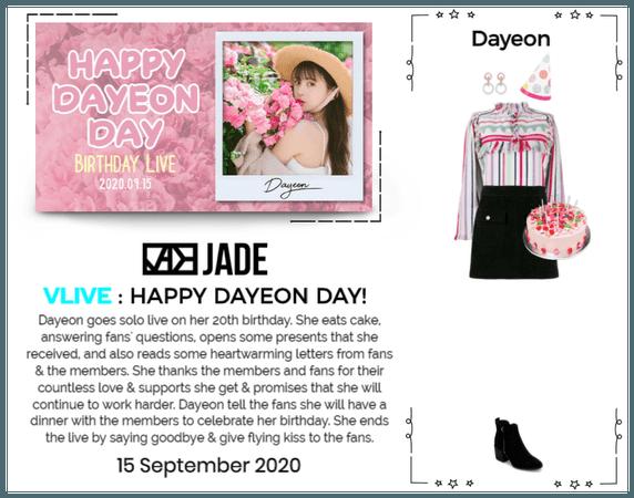 JADE [제이드] DAYEON VLIVE 200915