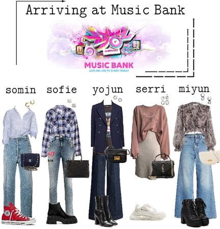 EG arriving at Music Bank