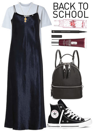 Slip dress to school