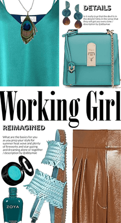 Working Girl Mood: Turquoise And Brown