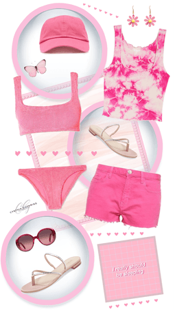 Pink Summer Outfit for @kalaaaalalove43 's Challenge