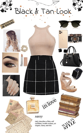 Black & Tan Outfit