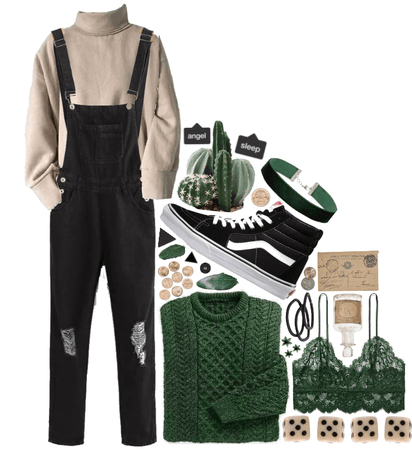 Green + Taupe