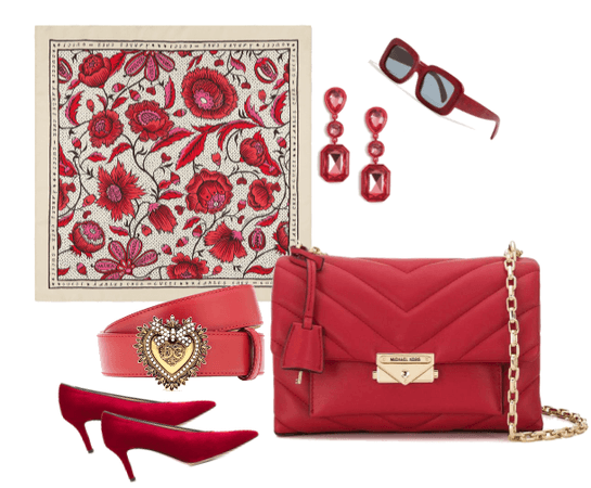 Red accessory bundle