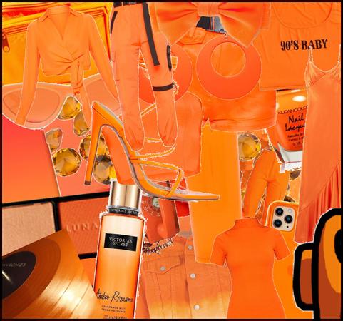 Neon Orange aesthetic