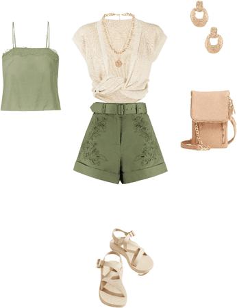 warm-casual-shorts-green
