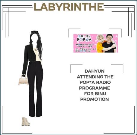 Dahyun on the pop*a radio programme