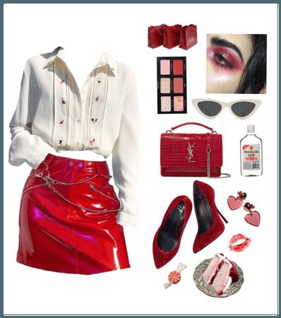glossy reds/
