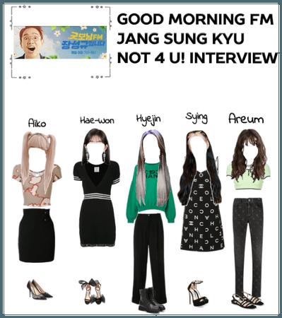 Good Morning Fm Jang Sung Kyu Not 4 U