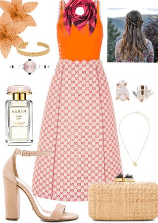 Orange n pink Princess