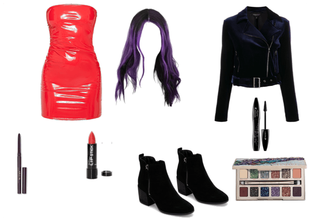 The bad ass club/party outfit with sexy makeup