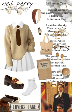 dead poets society characters as outfits in my style: neil perry 2🖤