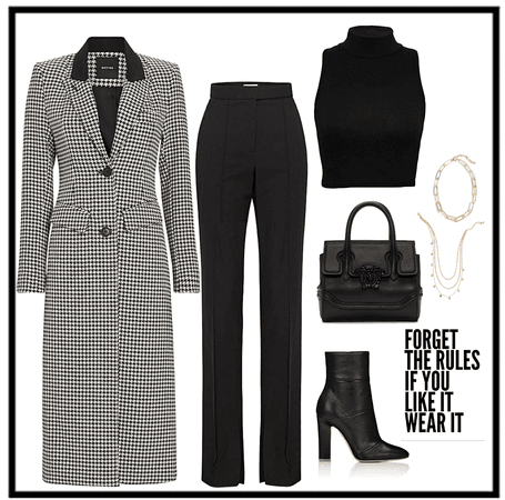 Houndstooth coat outf.
