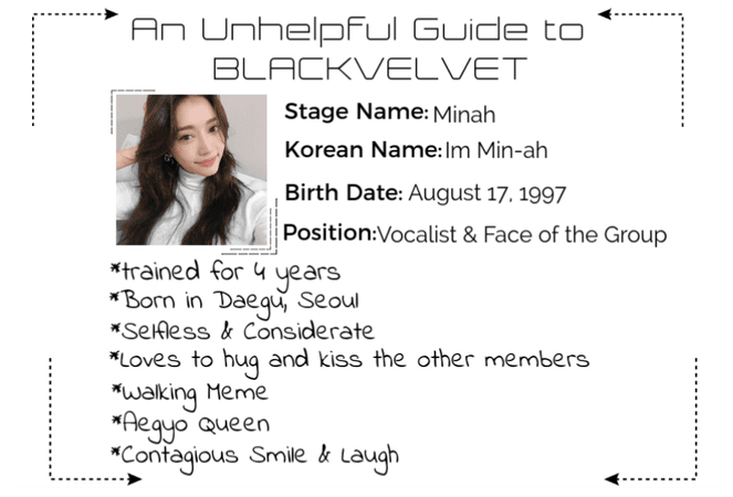 Who Is Minah? • BLACKVELVET