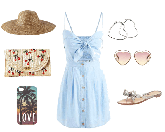 Denim Summer Bohemian Beach Dress