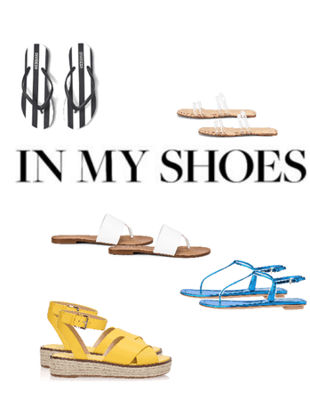 In my shoes sandals