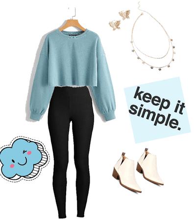 light blue with leggings