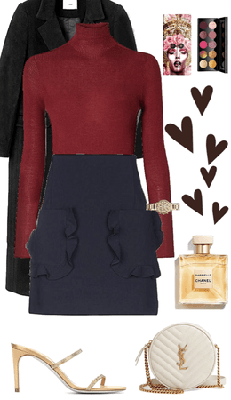 Women winter casual luxury chic outfit