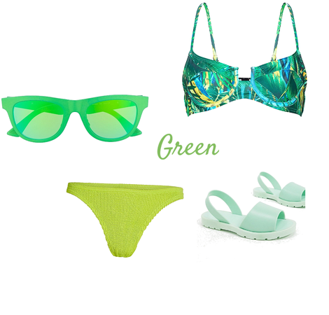 Green swim suit