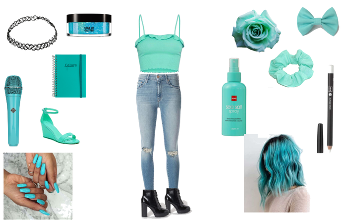 blue/turquoise/cute
