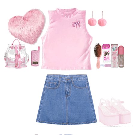 Pink 90's teenage outfit