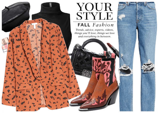 Fall Blazer & Cowboy Boots