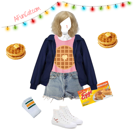 Stranger Things Eleven Costume Cosplay Outfit