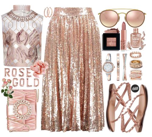 Lipstick Coordination: Radiant Rose Gold