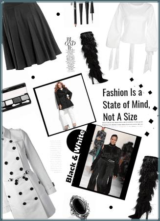 Plus Size Fashion/black n white