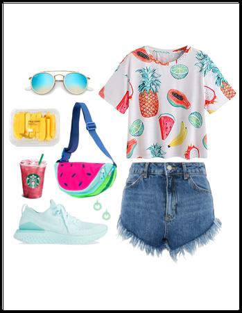 Summer Fanny Pack & Fruit