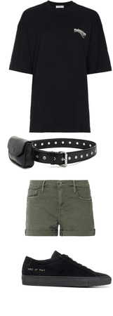 Simple black and green outfit