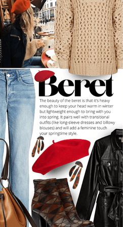 Beret and layers