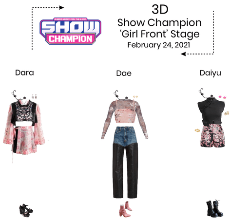{3D} 'Girl Front' Show Champion Stage