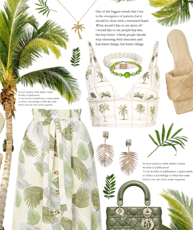 neutral tropical summer