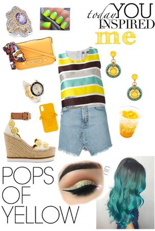 pops of yellow 🍋☀️🍋xox